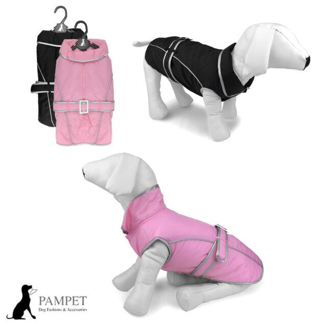Dog Coat - PAMPET SPACE DOG Rain Coat Warm - Pink or Black - FREE UK P&P!