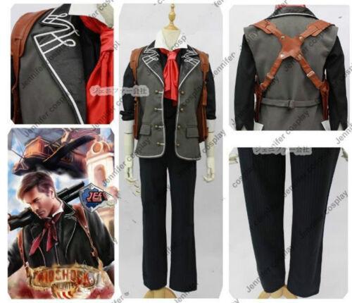 NUOVO BIOSHOCK 3 infinite Booker Dewitt Cosplay Costume NN.0221