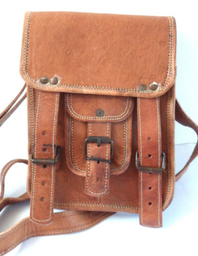 Eco friendly. Fairly traded Brown leather small satchel
