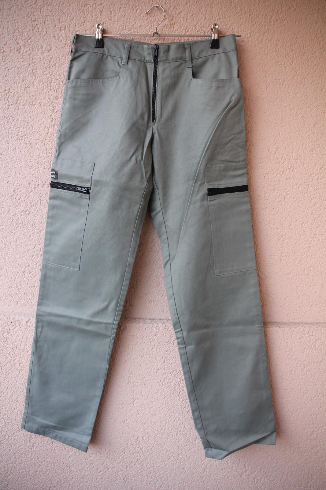 Hose  Combat Design Satin  light grey cotton polyamid von Mode Wichtig, Größe 30