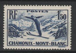 FRANCOBOLLI-1937-FRANCIA-SCI-A-CHAMONIX-F-1-50-MNH-E-1501