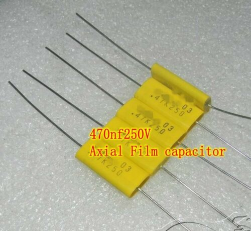 250V 470nf 0.47uf Film capacitor Axial Capacitors Electronic Components