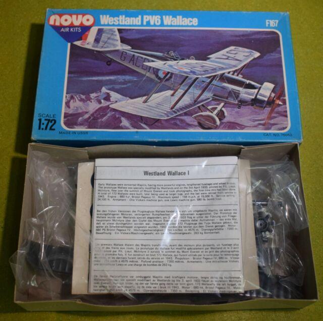 MODEL KIT NOVO 1/72 SCALE WESTLAND PV6 WALLACE F167