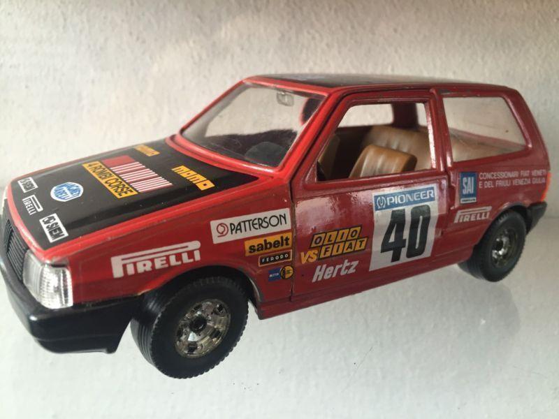Fiat Uno Rally Rombi Corse red - BURAGO 1 24