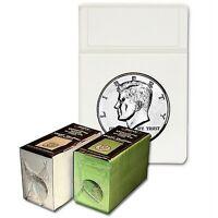 (50) Bcw Display Slab Foam Inserts - Half Dollar - White