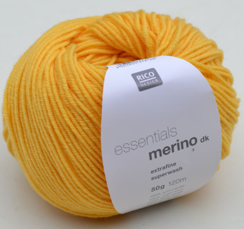Merino to the Knit /& Crochet 9,80 €// 100g Rico Essentials Merino Dk 100/% Wool