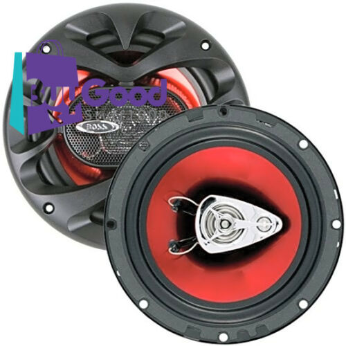 """Car Audio Speakers 3 Way 300W 6.5/"""" 150w RMS Stereo Red MADE IN USA NEW"""