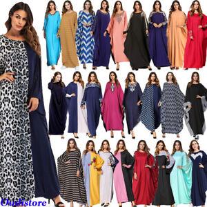 Muslim-Women-Batwing-Sleeve-Dress-Islamic-Abaya-Jilbab-Kaftan-Robe-Maxi-Gown-New
