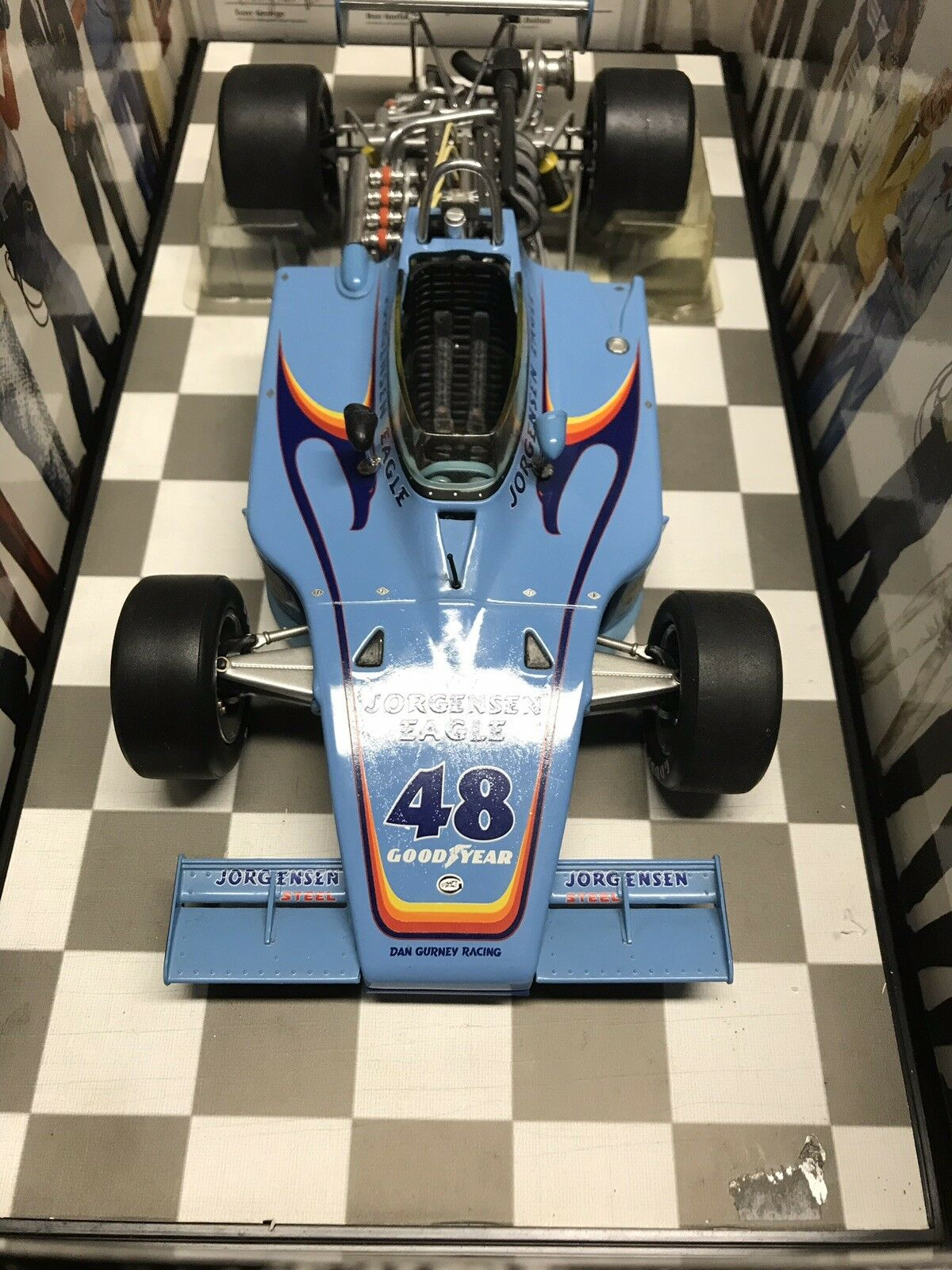 Carrousel 1 Bobby Unser Jorgensen AAR Eagle 1975 INDIANAPOLIS 500 WINNER 1 18 +