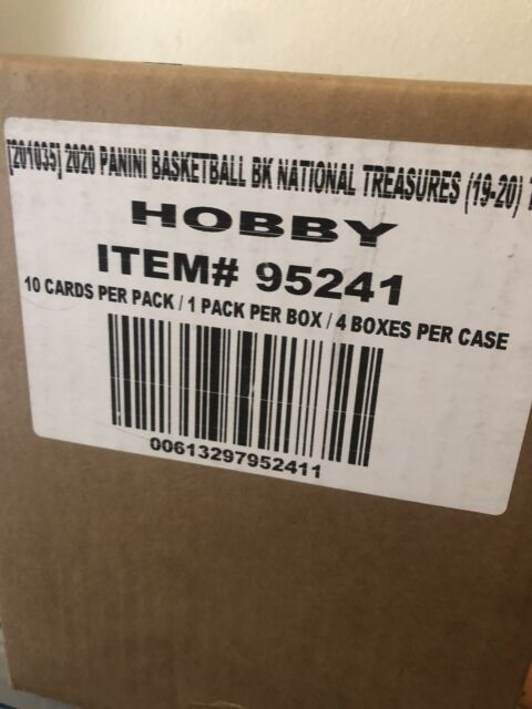 19-20 National Treasures Basketball Factory Sealed Case (4 Boxes) Zion RPA 🔥🔥