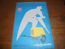 Prospekt Sales Brochure Jenbach Dieselkompressor Straßenbau Bau     автомобиль