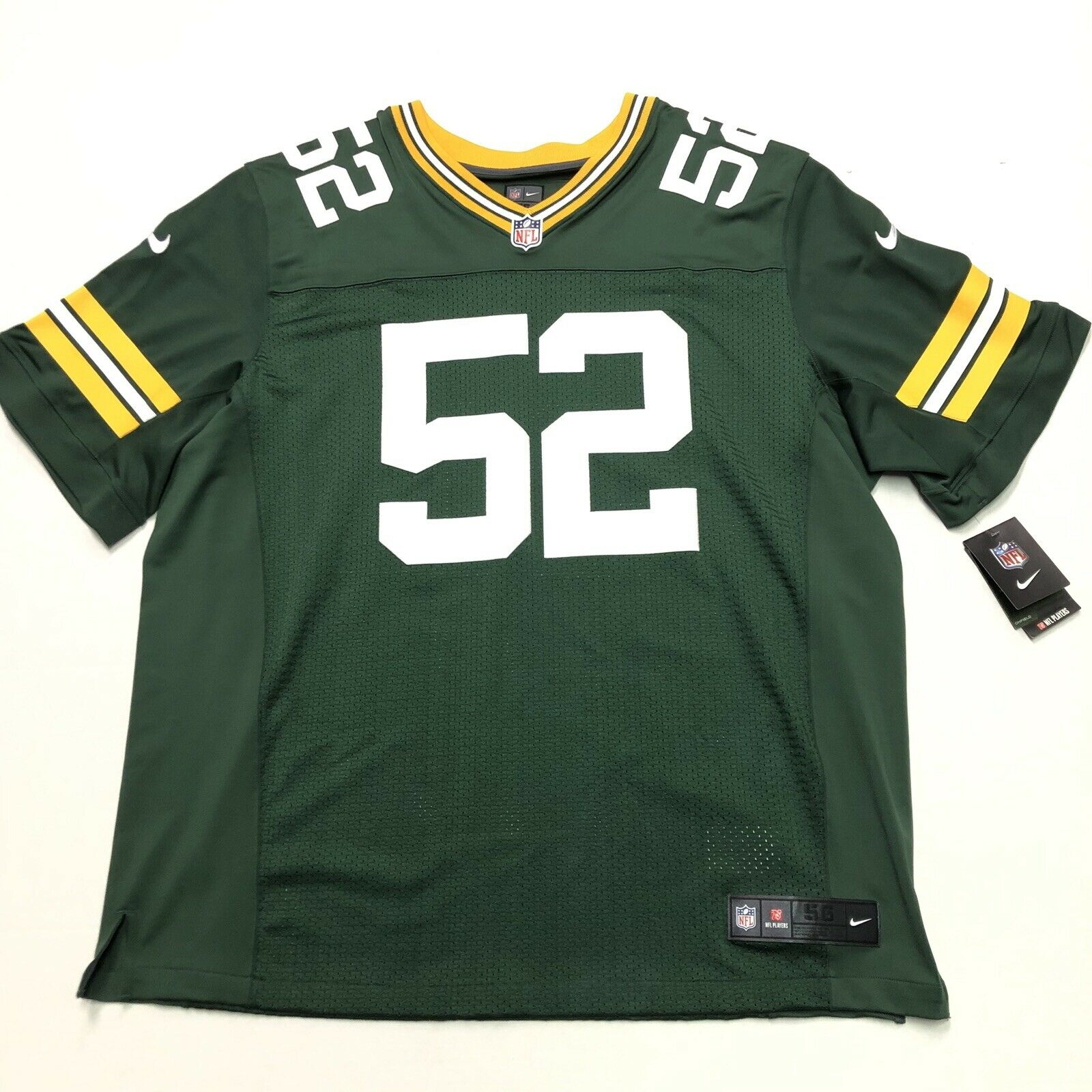 another chance aa668 68dd6 Green Bay Packers Clay Matthews Nike Elite Authentic Football Jersey Size  56 3xl