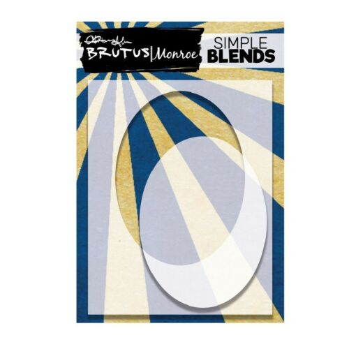 Brutus Monroe SIMPLE BLEND OVAL Stencil and Mask bru4608