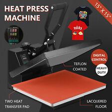 "Teflon 15"" x 15"" Digital Heat Press Coated Clamshell T-shirt Transfer Machine"
