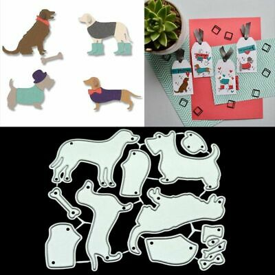 A lovely dog Cutting Dies Stencils for DIY Scrapbooking//photo album Decorative