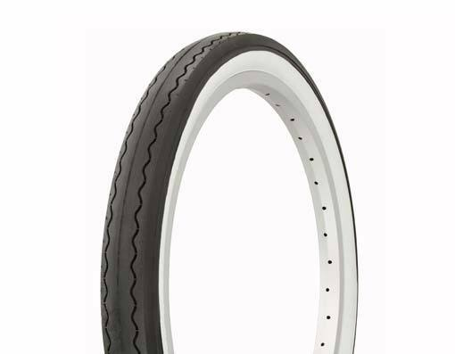 "1 Bicycle Tire 20/"" x 1.75/""  White Wall Lowrider Chopper Cruiser Bike 258606"