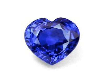 Heart Bright Blue Lab Created Sapphire (4mm to 14mm)