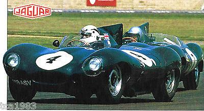 Confident 1954/1955/1956/1957 Jaguar D-type Spezial Folie Auto & Motorrad: Teile Plaketten Broschüre