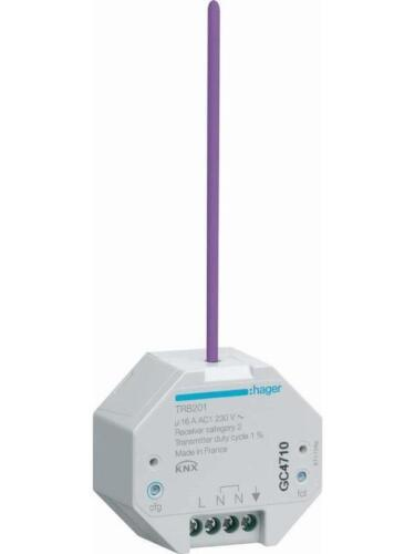 Hager Funk KNX UP Ausgang TRB201 IP20 Bussystem-Schaltaktor Funk