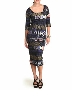 COOGI Women\'s Black Dress Cold Cut out Shoulder Plus Size 2X Extra ...