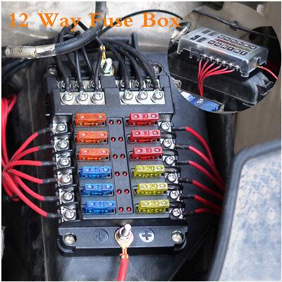 12 Way Car Auto Boat Marine Bus UTV Blade Fuse Box Block Cover LED  Indicators | eBay | Malibu Boat Fuse Box |  | eBay