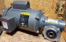 New Baldor 1 Hp Single Phase Gear Motor Vl3510 201 Ratio