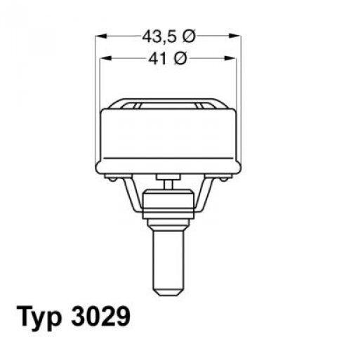 CALORSTAT by Vernet Thermostat Kühlmittel TH4495.89 für DACIA RENAULT VOLVO