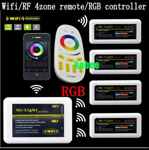 Mi Light wifi RGB LED controller 2 4G 4-zone RF Remote Control IOS