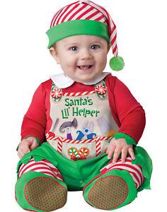 7ed6c6ac929a3 De PÈRE NOËL Lil  Helper Rayure Elfe Bébé Nourrisson Costume Noël