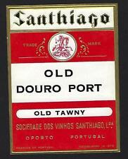 OLD DOURO PORT Wine Litho gold Label embossed. Vinho do Porto TAWNY Portugal