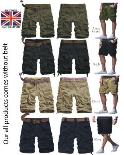 Men/'s Army Twill Combat Pants 6 Pockets Causal Trouser /& Cargo shorts All Sizes