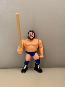 RARE-WWE-HACKSAW-JIM-DUGGAN-HASBRO-WRESTLING-FIGURE-WWF-SERIES-2-1991-WITH-2x4