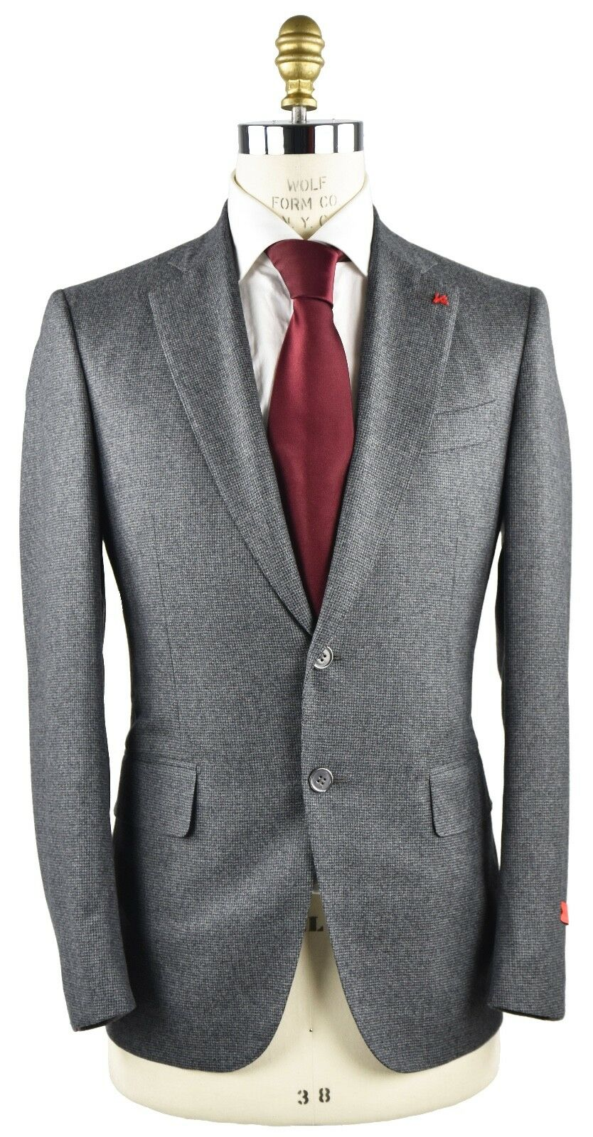 NEW 2018 ISAIA NAPOLI SUITS  100% WOOL 120'S SZ 38 US 48 EU 8R  18IVW1