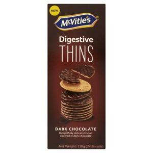McVitie's Thins Dark Chocolate Digestive Biscuits 150g