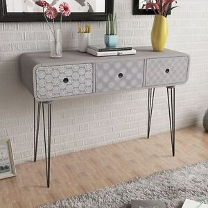 Image Is Loading Bedroom Dressing Cabinet Console Table Grey Hairpin Legs