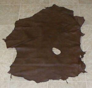 (IDA7905-3) Hide of Brown Lambskin Leather Hide Skin