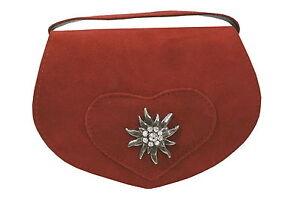 dfe8a572234b5 Das Bild wird geladen Trachtentasche-Dirndltasche-Damentasche-Handtasche- Umhaengetasche-Ledertasche-Rot