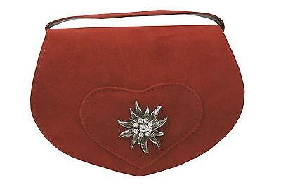 Trachtentasche Dirndltasche Damentasche Handtasche Umhängetasche Ledertasche Rot