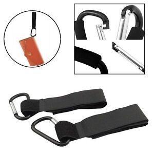 Universal Mummy Buggy Clips Pram Pushchair Stroller Hook Shopping Bag Holder SI