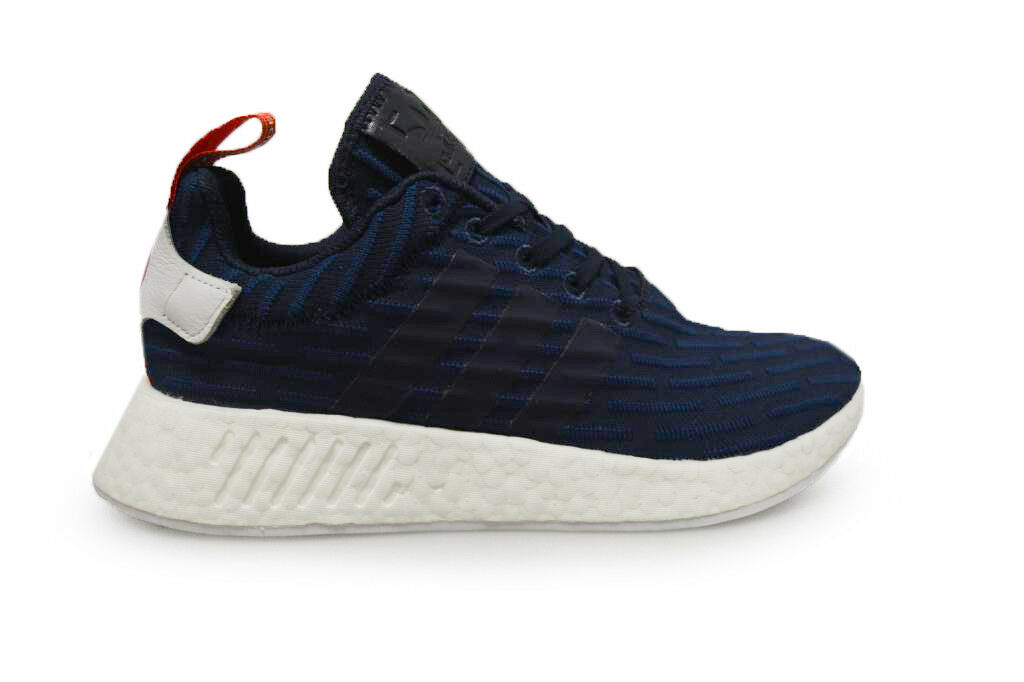 Para Hombre Adidas NMD_R2 PK-BB2952-Azul blancoo Rojo Zapatillas