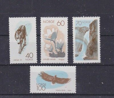 Norway 1970 Sc 551/4,michel 602/5,set Nature Conservation.mnh O6 Sturdy Construction Norway