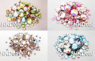 144 Mix Size Mix Color Swarovski Rhinestone Flatback Crystal Nail Art [4 Option]
