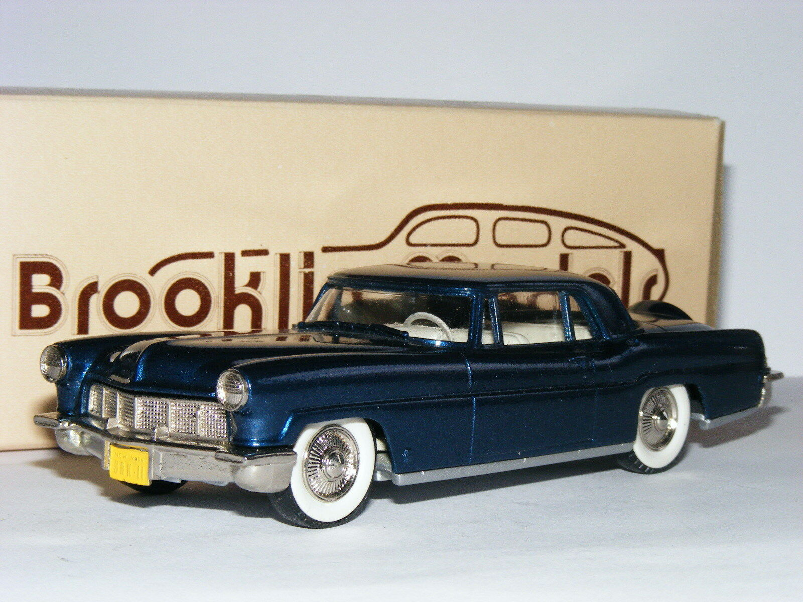 Brooklin BRK11 1956 Lincoln Continental MkII Coupe Metallic bluee Early Box 1 43