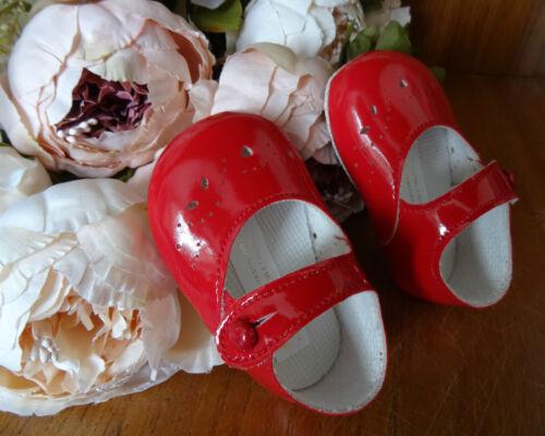 Zapatos de Bebé Niñas Rojas Patente Cochecito Bautizo Talla 0-1-2//0-3-6-12m