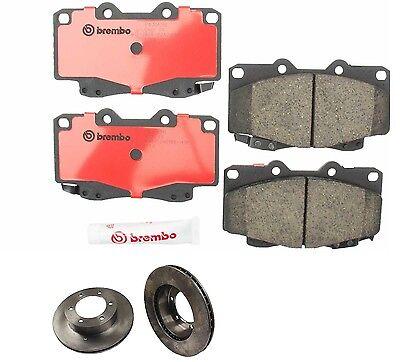 P83143N BREMBO Front Brake Pads /& Rotors 6-Lug Toy 4Runner/&Tacoma 25513