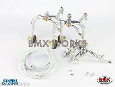 MX132-45 Degree Pre Bent Lever Brake Set Dark Blue Dia-Compe MX890 Caliper