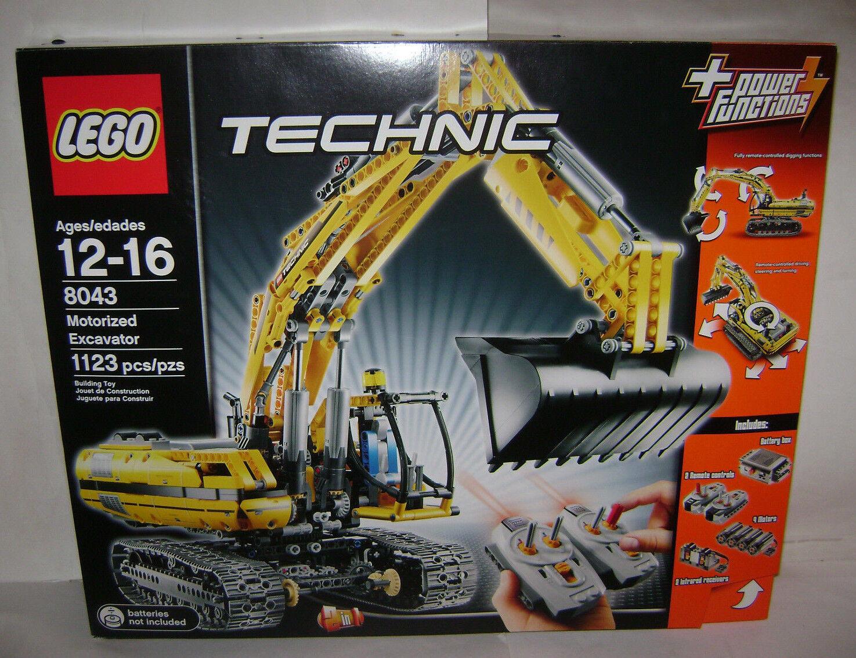 vendendo bene in tutto il mondo Nuovo 8043 8043 8043 Lego TECHNIC Motorized Excavator costruzione giocattolo SEALED scatola RETIrosso A  negozio online