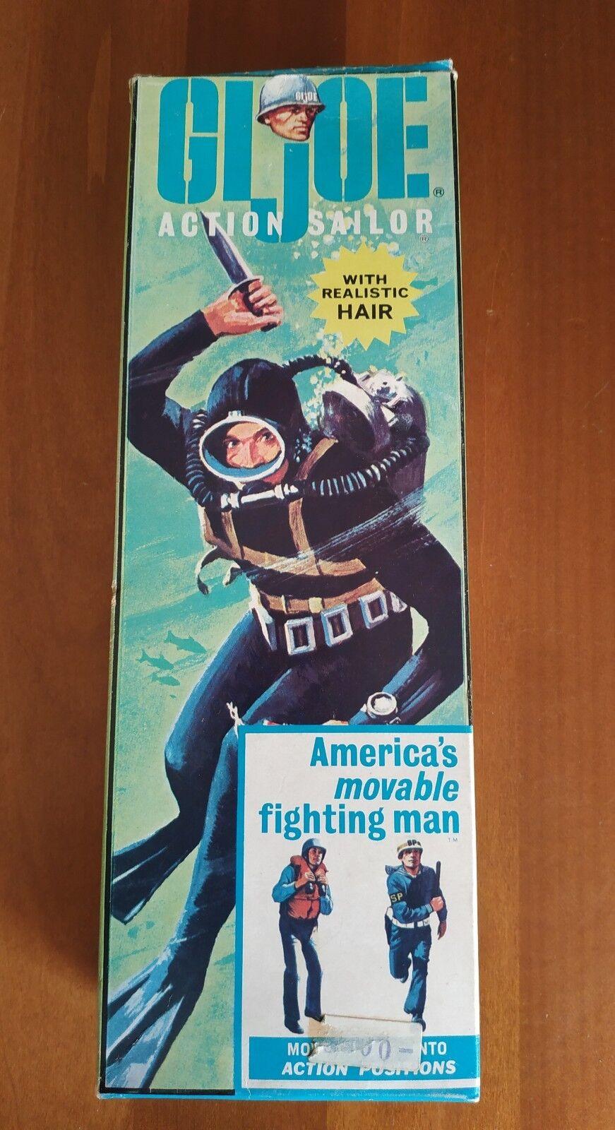 Gi Joe Action Sailor 1964 ACTION MAN Originale RARO Hasbro with Realistic Hair
