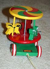 Vintage Brio Merry Go Round Pull Toy - Made in Sweden
