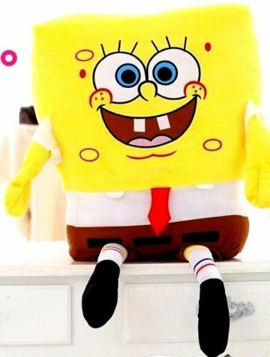 Nick Jr.Yellow Spongebob Squarepants 39  Large Plush Doll Soft Stuffed Toy-New